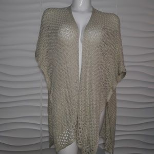 Sonoma Crocheted Open Front Poncho NWT